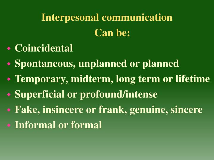Interpesonal