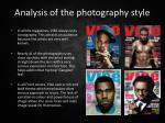 analysis of the photography style