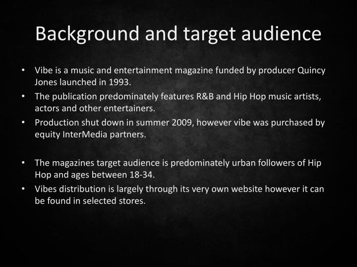 Background and target audience