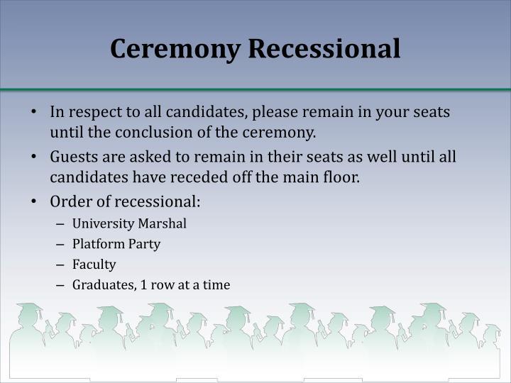 Ceremony Recessional