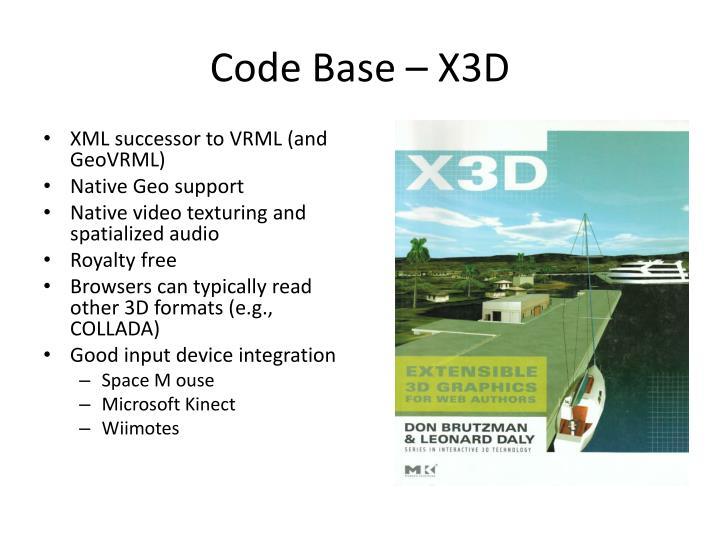 Code Base – X3D
