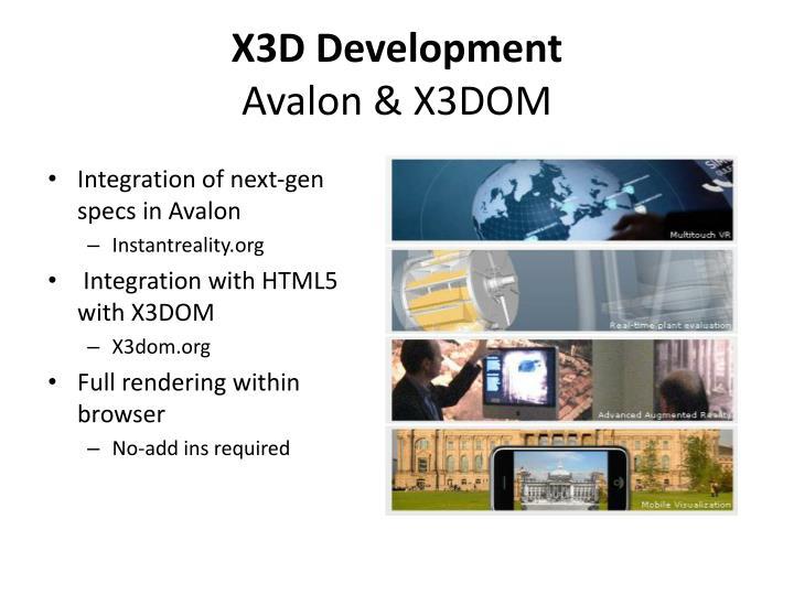 X3D Development