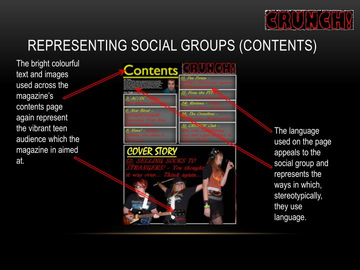 Representing Social Groups (Contents)