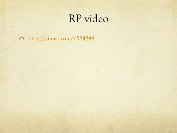 RP video