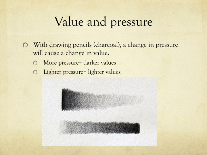 Value and pressure