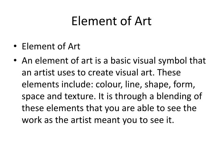 Element of art