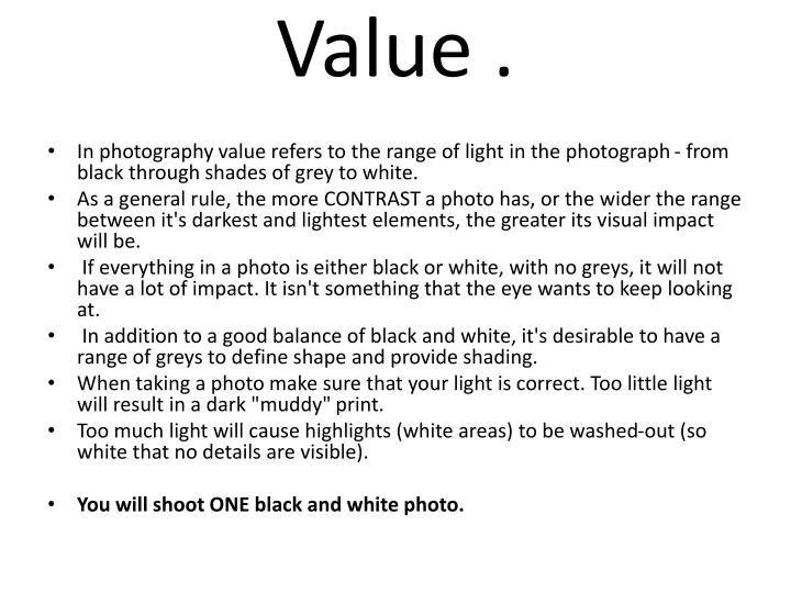 Value .