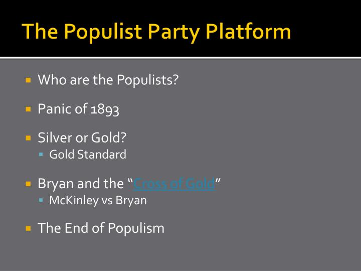 The Populist Party Platform