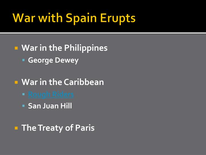 War with Spain Erupts
