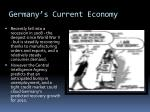 germany s current economy