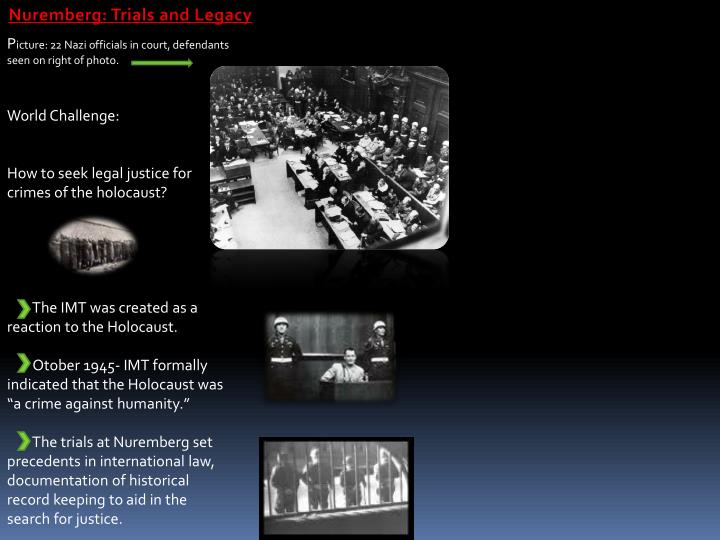Nuremberg: Trials and Legacy