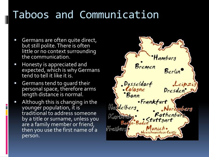 Taboos and Communication