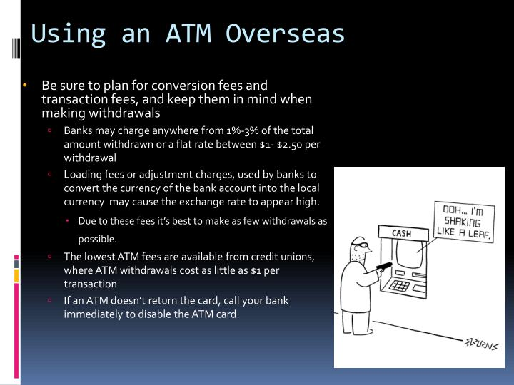 Using an ATM Overseas