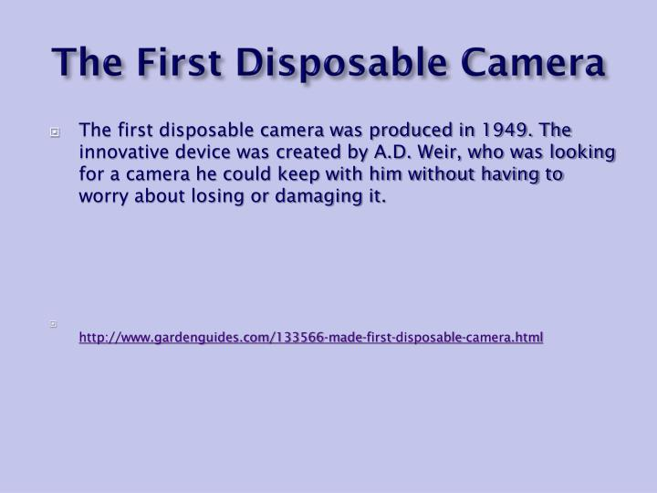 The First Disposable Camera