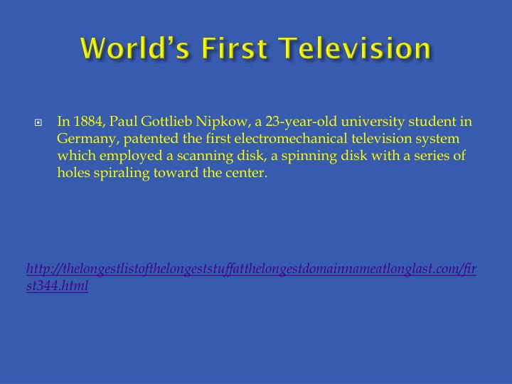 World's First Television