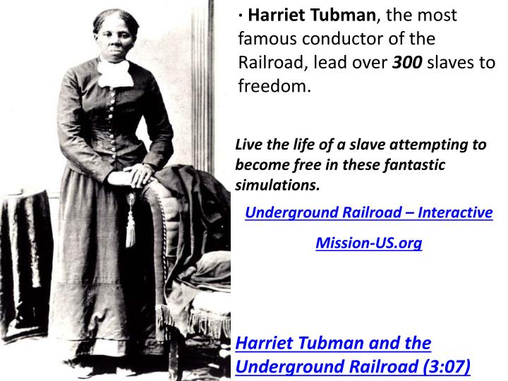 similarities and differences of harriet tubman Letter to harriet tubman from frederick douglass august 29, 1868 the difference between us is very marked most that i have done and suffered in the.