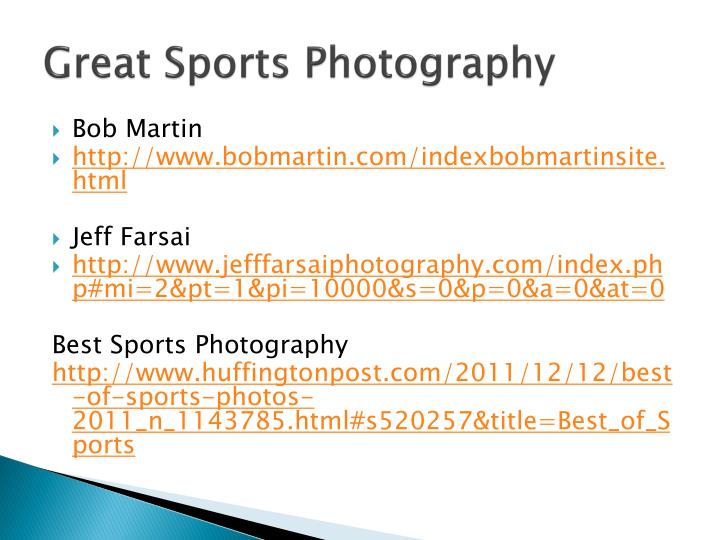 Great Sports Photography