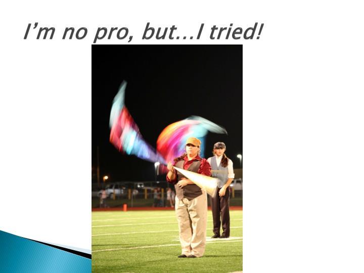 I'm no pro, but…I tried!