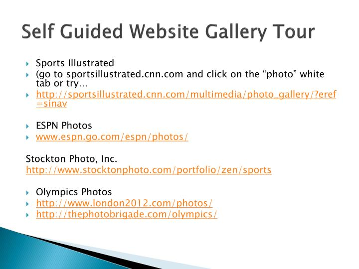 Self Guided Website Gallery Tour