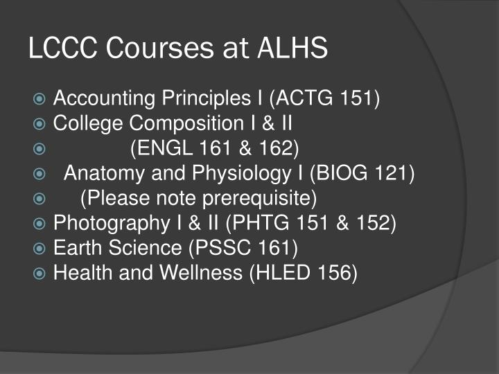LCCC Courses at ALHS