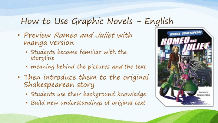 How to Use Graphic Novels - English