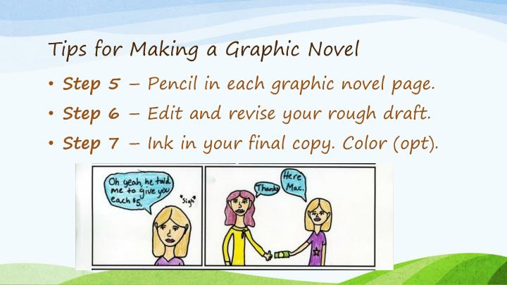 Tips for Making a Graphic Novel