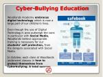 cyber bullying education
