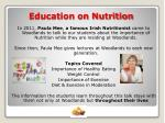 education on nutrition