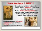 junk kouture new