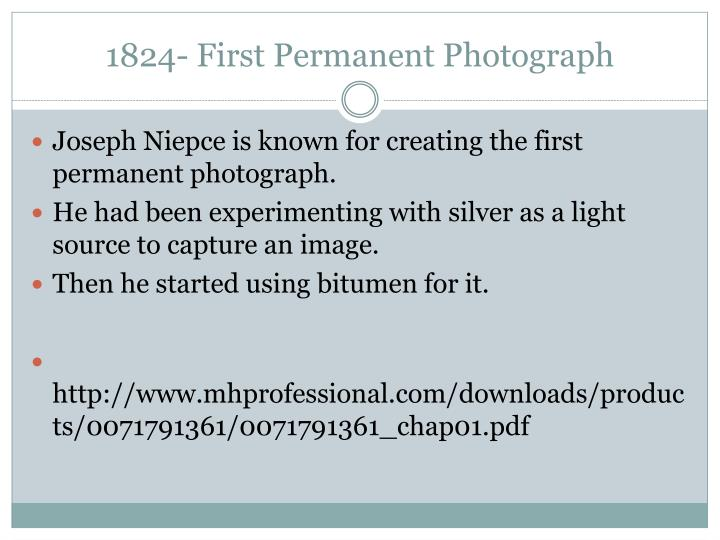 1824 first permanent photograph