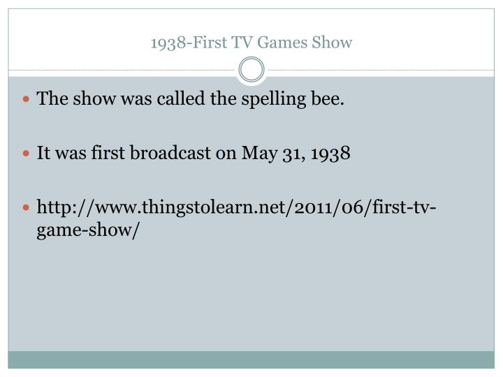 1938-First TV Games Show