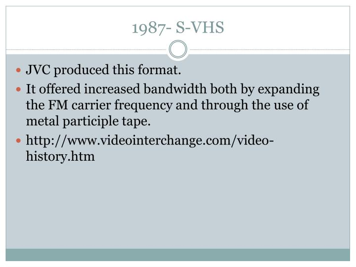 1987- S-VHS