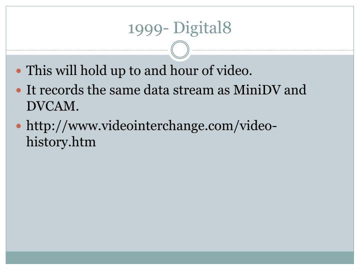 1999- Digital8