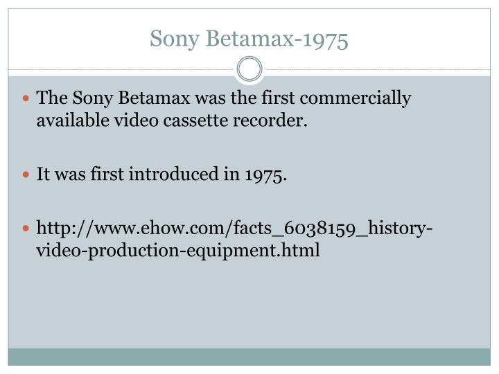 Sony Betamax-1975