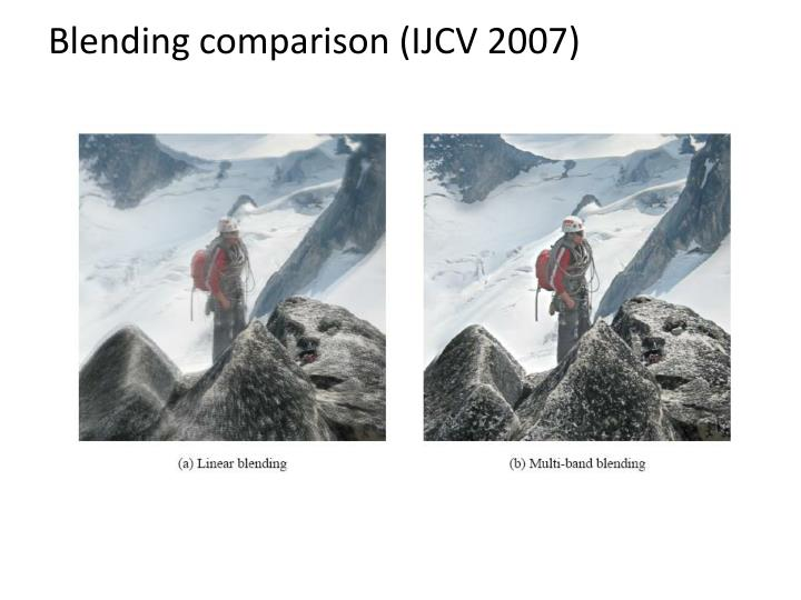 Blending comparison (IJCV 2007)