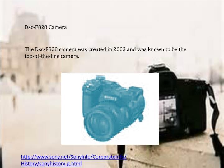 Dsc-F828 Camera
