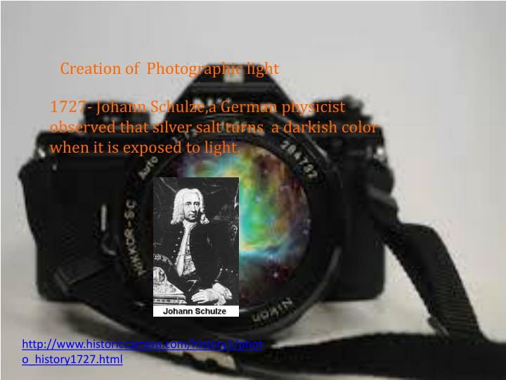 Creation of  Photographic light