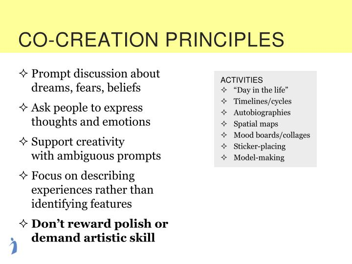 CO-CREATION PRINCIPLES
