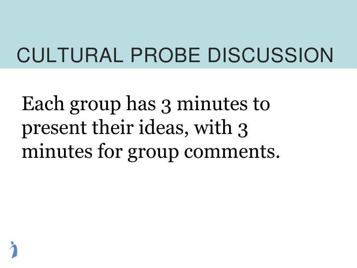 CULTURAL PROBE DISCUSSION