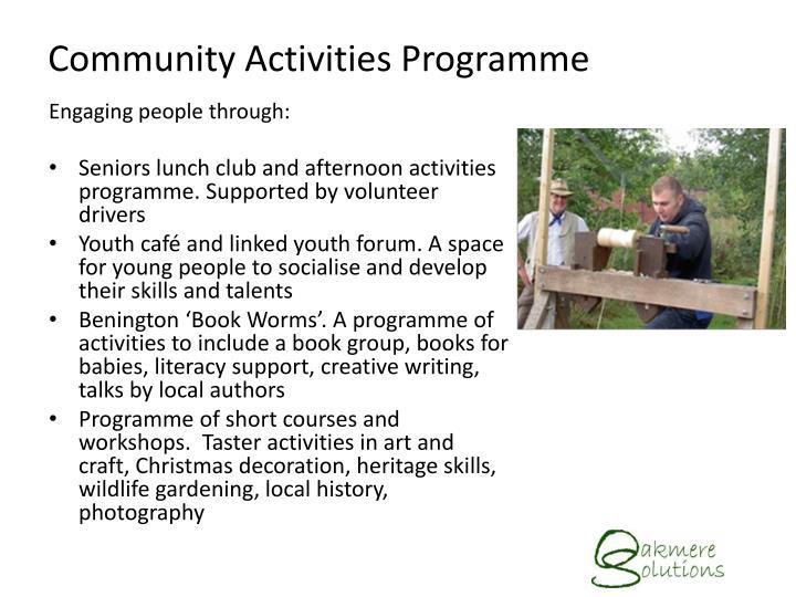 Community Activities Programme