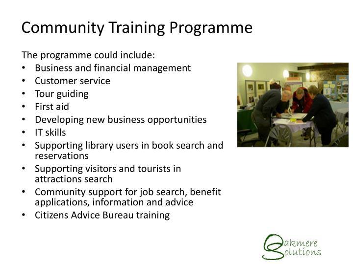 Community Training Programme