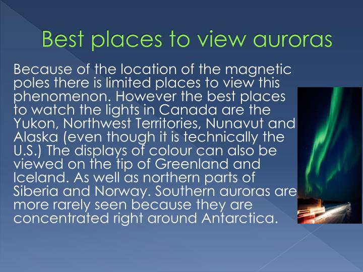 Best places to view auroras