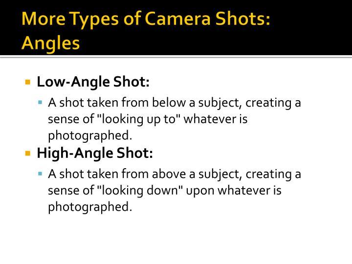 More Types of Camera Shots: Angles