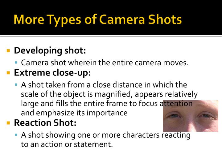More Types of Camera Shots