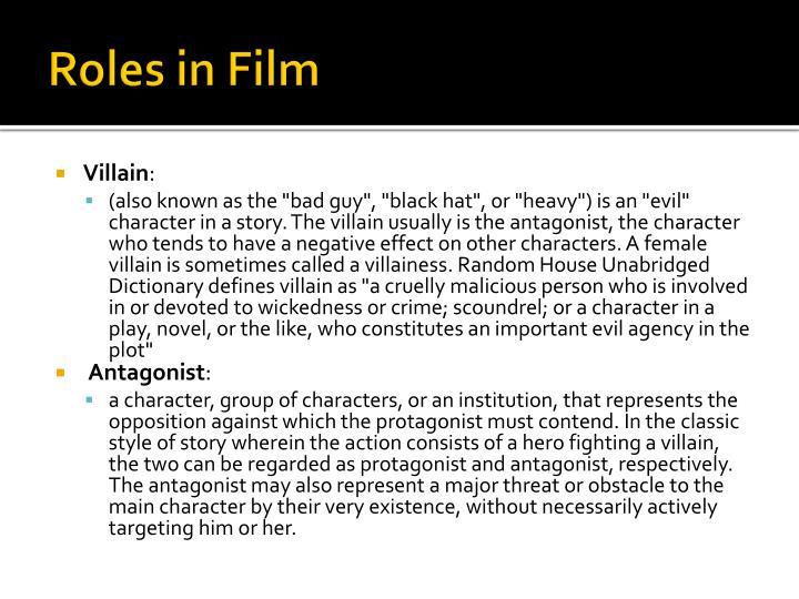 Roles in Film