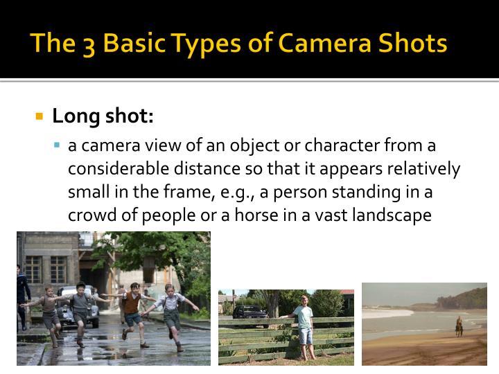 The 3 Basic Types of Camera Shots