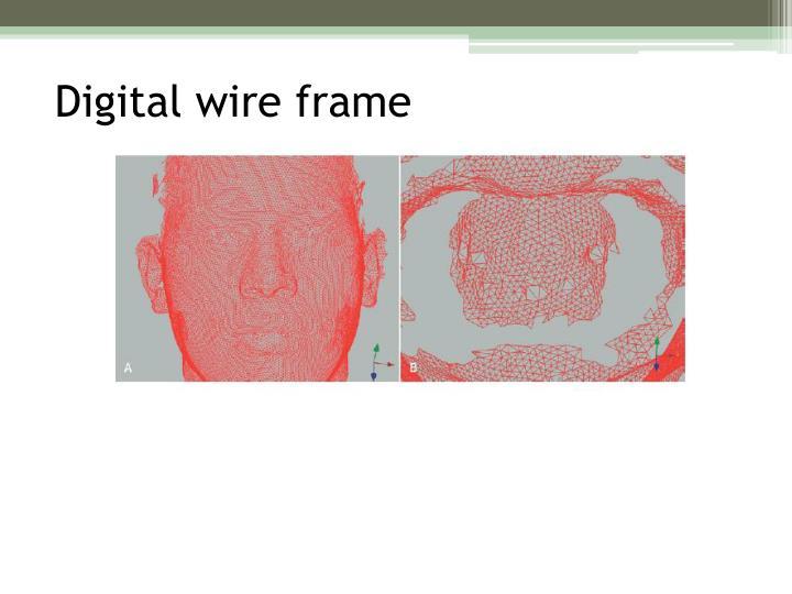 Digital wire frame