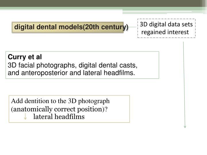 3D digital data sets