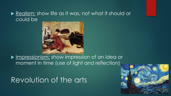 Revolution of the arts