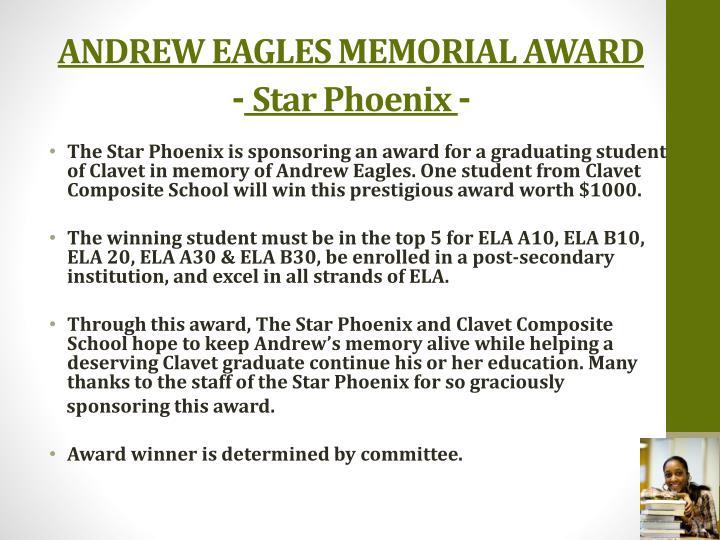 ANDREW EAGLES MEMORIAL AWARD